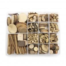 천연나무조각세트(플라스틱 케이스)