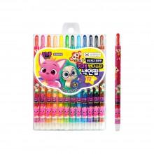 지구화학 핑크퐁 원더 스타 색연필 12색