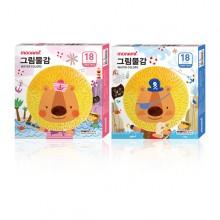 모나미 모니주 수채 그림물감 6ml 18색 학생용