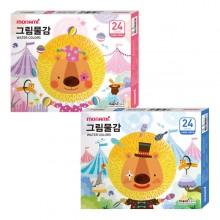 모나미 모니주 수채 그림물감 6ml 24색 학생용