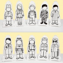컬러룬 직업 풍선 10인 KIT B 5종 직업 각2개입