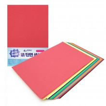도리미 색상지 파스텔톤 양/단면 A4 10색 100매 120g