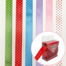 컬러룬 주자땡땡이 팬시리본 15mm 10야드